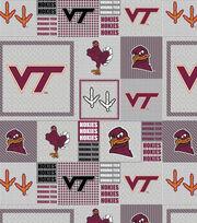 "Virginia Tech Hokies Fleece Fabric 58""-Gray Block, , hi-res"
