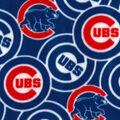 Chicago Cubs Fleece Fabric -Logo