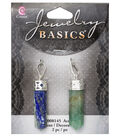 Cousin Jewelry Basics 2 Pack Mottled Pencil Accents-Blue & Green