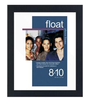 Wood Float Photo Frame 8''x10''-Black