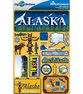 Jet Setters Dimensional Stickers-Alaska