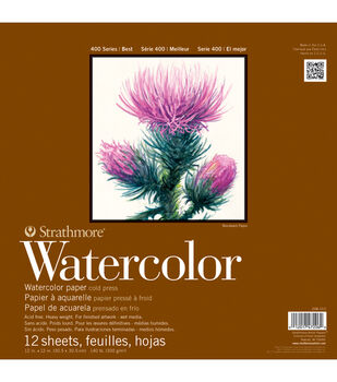 "Strathmore Watercolor Paper Pad 5.5""X8.5""-140lb Cold Press 12 Sheets"