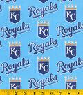Kansas City Royals Cotton Fabric 58\u0027\u0027-Mascot Logo