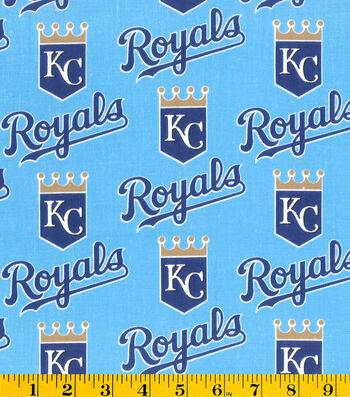Kansas City Royals Cotton Fabric -Mascot Logo