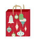 American Crafts Large Gift Bag with Tag-Ornaments-Gold Glitter Accent