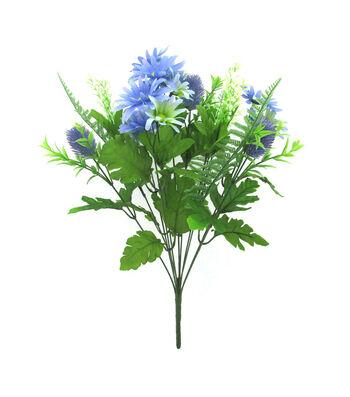 Fresh Picked Summer Daisy Thistle Bush-Blue