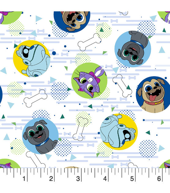 Disney PUPPY DOG PALS Licensed 100/% Cotton Craft Fabric Material