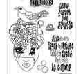 Dyan Reaveley\u0027s Dylusions Cling Stamp Collections 8.5\u0027\u0027X7\u0027\u0027-Never Forget