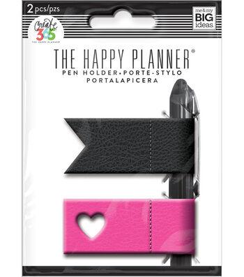 The Happy Planner Pen Holder-Pink & Black
