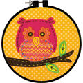 Learn-A-Craft Little Owl Felt Applique Kit-6\u0022 Round