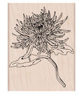 Hero Arts Wood Mounted Rubber Stamp-Mum Flower