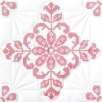 "Stamped White Quilt Blocks 18""X18"" 6/Pkg-Colonial Williamsburg"