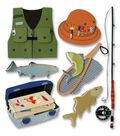 Jolee\u0027s Boutique Themed Ornate Stickers-Fishing Trip
