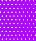Tutti Fruitti Embellished Basic Fabric 44\u0027\u0027-Aspirin Dots on Purple