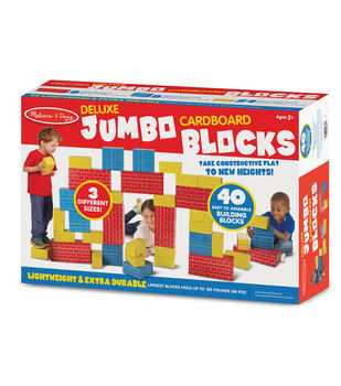Melissa & Doug 40 pk Deluxe Jumbo Cardboard Blocks