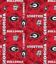 "University of Georgia Bulldogs Fleece Fabric 60""-Digital Camo, , hi-res"