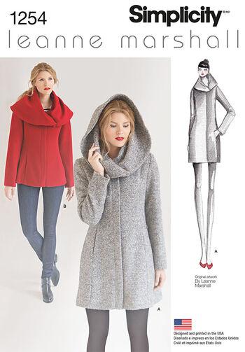 Simplicity Pattern 1254R5 14-16-18-2-Jacket / Coat