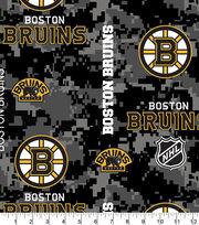 Boston Bruins Fleece Fabric-Digital, , hi-res
