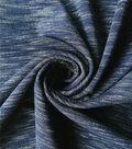 Ponte Knit Fabric-Navy Space Dye