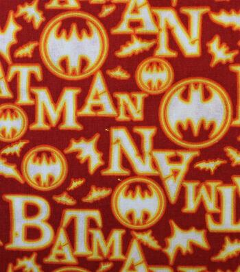 Halloween Cotton Fabric -Batman & Halloween on Orange