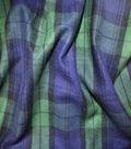 Sportswear Acrylic Fabric -Navy & Green Blackwatch Plaid