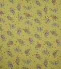 Spring Garden Crinkle Cotton Fabric-Yellow Floral Spray