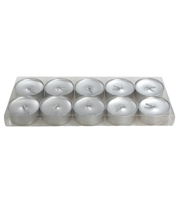 Hudson 43™ Candle & Light Collection 10 Pack Poured Tealights Unscented Silver
