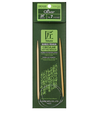 "Takumi Bamboo Circular Knitting Needles 24""-Size 7/4.5mm"