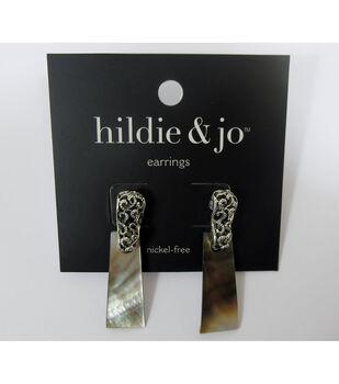 hildie & jo Antique Silver & Shell Post Earrings