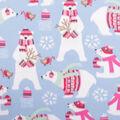 Blizzard Fleece Fabric-Polar Bear Presents