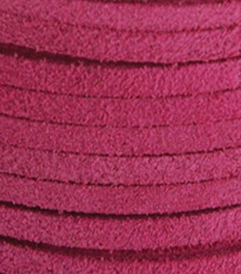 "Silver Creek Leather Co. Suede Lace 1/8""x25 Yards-Pink"