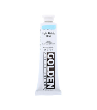Golden Artist Colors Heavy Body Acrylic Paint-Light Phthalo Blue