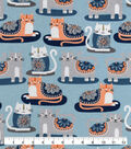 Snuggle Flannel Fabric-Patterened Cats
