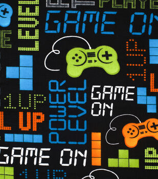 Super Snuggle Flannel Fabric-Game on Gray