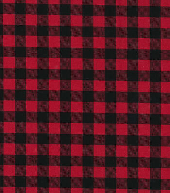"Christmas Cotton Fabric 43""-Red Buffalo Check"