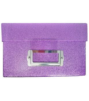 Photo Storage Box-Purple Glitter