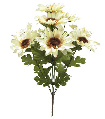 Blooming Autumn 17'' Sunflower Bush-Beige