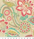 Waverly Upholstery Fabric 13x13\u0022 Swatch-Wild Card Bloom