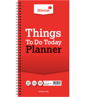 Silvine 120-sheet 5.9''x11'' Planner-Things To Do Today