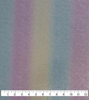 Let's Pretend Glitterbug Knit Fabric-Metallic Unicorn