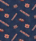 Auburn University Tigers Flannel Fabric 42\u0022-Distressed Logo