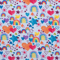Super Snuggle Flannel Fabric-Rainbows and Hearts