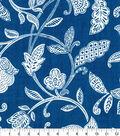 Waverly Upholstery Decor Fabric-Stencil Vine Ocean