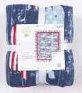 No Sew Fleece Throw 48\u0022-Patriotic Whales