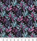 Premium Quilt Cotton Fabric -Floral Dark Stems