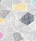 Premium Cotton Fabric 43\u0027\u0027-Gray Mosaic Geometrics