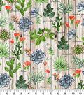 Novelty Cotton Fabric-Succulent Garden