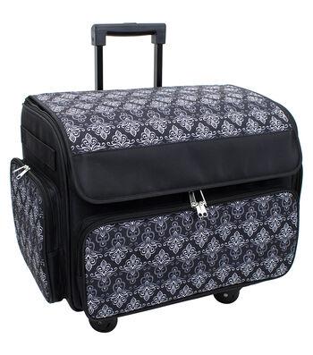 Everything Mary Extra Large Rolling Sewing Machine Case-Damask