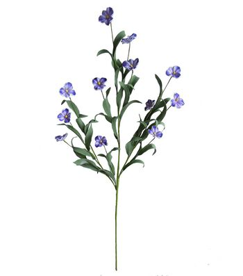 Fresh Picked Spring 30'' Eva Spray-Lavender & White