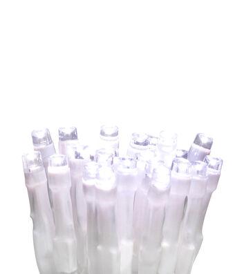 Maker's Holiday 50Ct LED Euro Lights-White On White